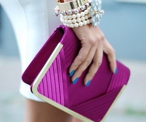 fashion, clutch, and nails image