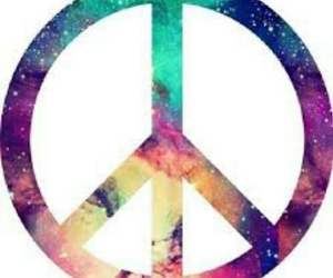 peace and galaxy image