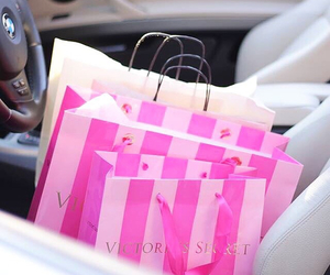 fashion, pink, and shopping image
