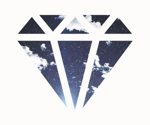 diamond, galaxy, and wallpaper image