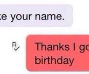 funny, name, and birthday image