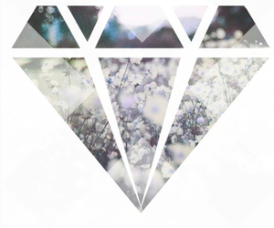 diamond, hipster, and white image