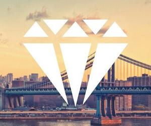 hipster, bridges, and diamonds image