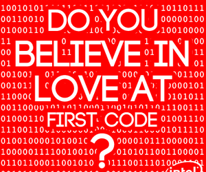 code, programming, and love image