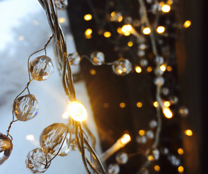christmas, crystal, and fairy lights image