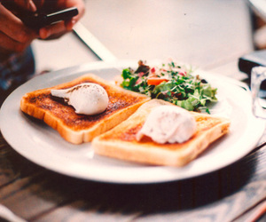 food, photography, and toast image