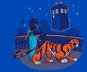 doctor who, tardis, and aladdin image