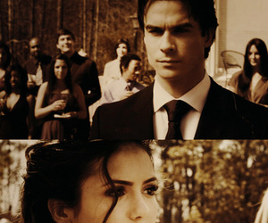 delena, elena, and the vampire diaries image
