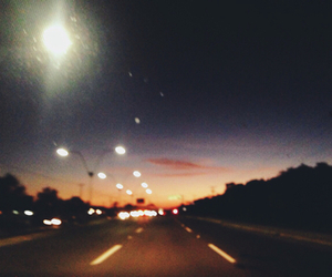 night, road, and grunge image
