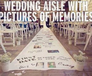 wedding, couple, and memories image