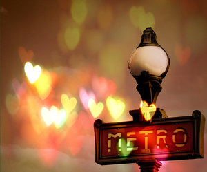 paris, metro, and heart image