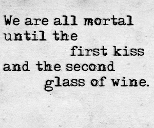 quote, kiss, and wine image