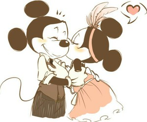love, mickey, and disney image