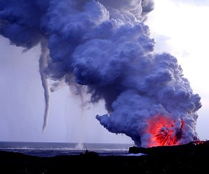 explosion, lava, and smoke image