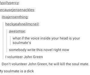 funny, john green, and tumblr image