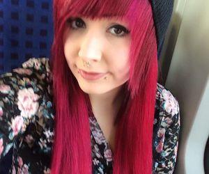 alt girl, dyed hair, and orange hair image