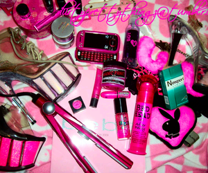 pink, girly, and Playboy image
