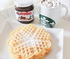 nutella, food, and starbucks image