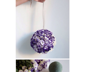 ball, diy, and flowers image