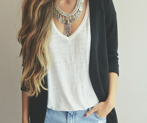 fashion, outfit, and hair image