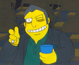 the simpsons and fat tony image