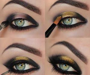 eyes, fashion, and make up image