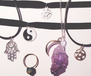 necklace, choker, and crystal image