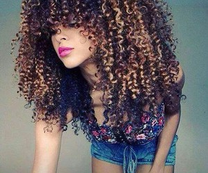 hair, curly, and curly hair image