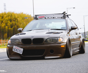bmw, clean, and stanced image