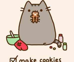 Cookies, pusheen, and cat image
