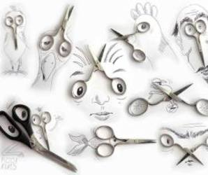 black, drawing, and scissors image