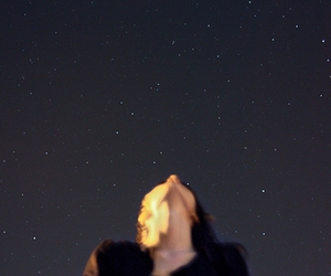 stars, girl, and night image