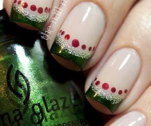 nails, christmas, and green image