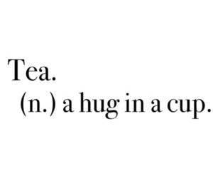 tea, hug, and cup image