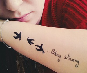 black, tatoo, and staystrong image