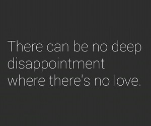 disappointment, quotes, and love image