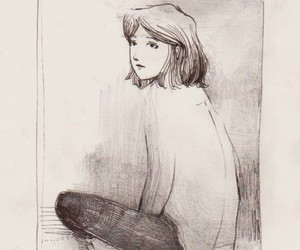alone, drawing, and girl image