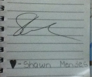 shawn mendes, his autograph, and ilh❤️ image