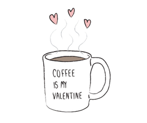 coffee, valentine, and overlay image