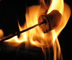 fire, food, and marshmallow image