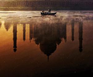 taj mahal, india, and sunset image