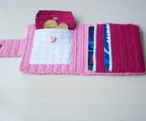 crochet, wallet, and carteira image