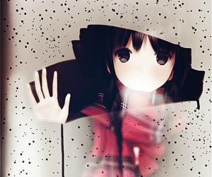 anime, rain, and anime girl image