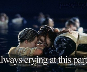 titanic, cry, and crying image