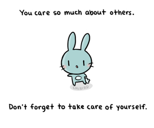chibird, bunny, and care image