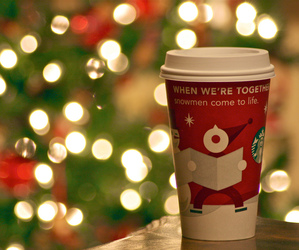 christmas, starbucks, and lights image