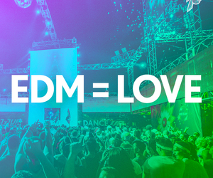 music, edm, and love image