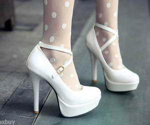 heels, white, and fashion image