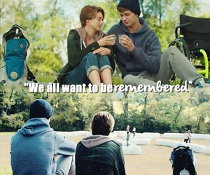augustus, hazel, and movie image