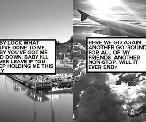 black and white, stockholm syndrome, and clouds image